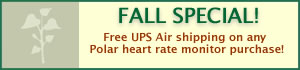 Fall Special! Free UPS Air shipping on Polar heart rate monitors
